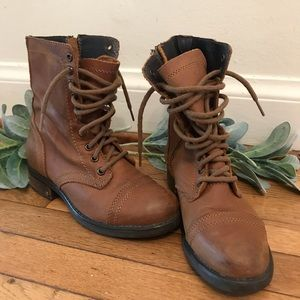 Brown Steve Madden Genuine Leather Boots